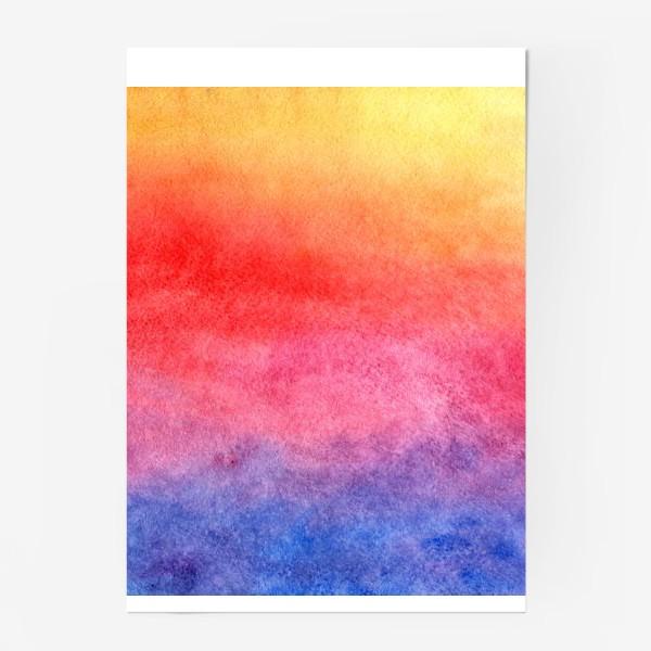 Постер «Яркий закат»