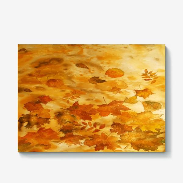 Холст «Листья падают, кружась...»