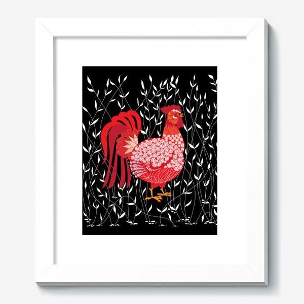 Картина «Петушок в траве»