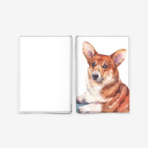 Обложка для паспорта «Корги»