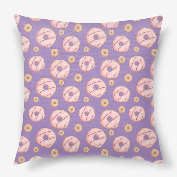 Подушка «Пончики клубничные»
