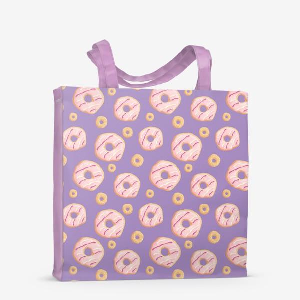 Сумка-шоппер «Пончики клубничные»