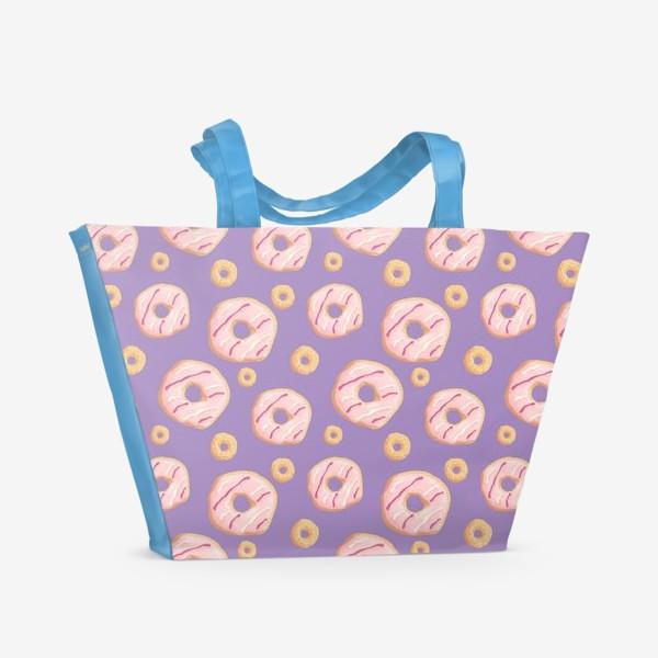 Пляжная сумка «Пончики клубничные»