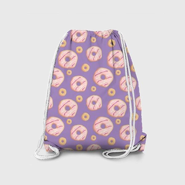 Рюкзак «Пончики клубничные»