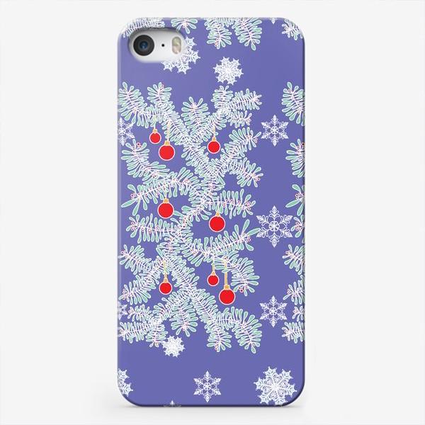 Чехол iPhone «Новогодние ветки»