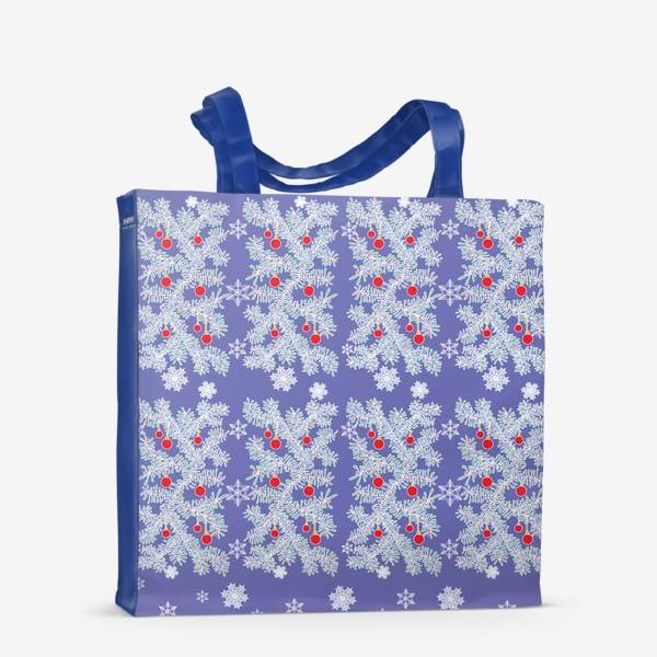 Сумка-шоппер «Новогодние ветки»