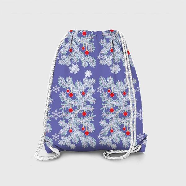 Рюкзак «Новогодние ветки»