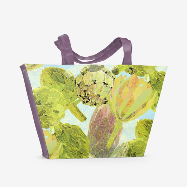 Пляжная сумка «артишоки»