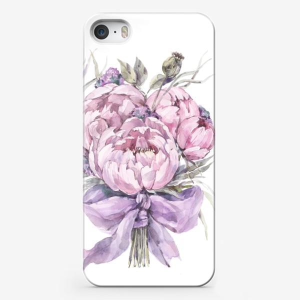 Чехол iPhone «Букет нежно-розовых пионов»