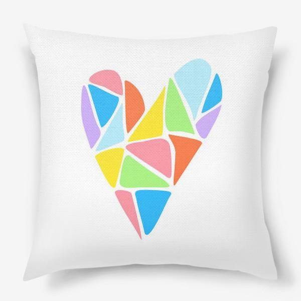 Подушка «Радужное сердце»