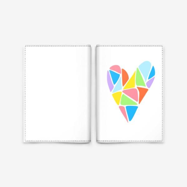 Обложка для паспорта «Радужное сердце»