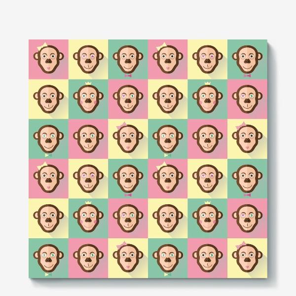Холст «Паттерн обезьяны»