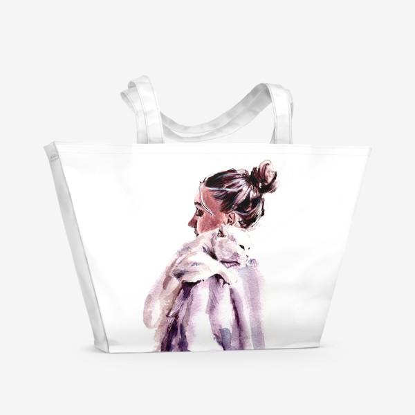 Пляжная сумка «нежность на плечи»