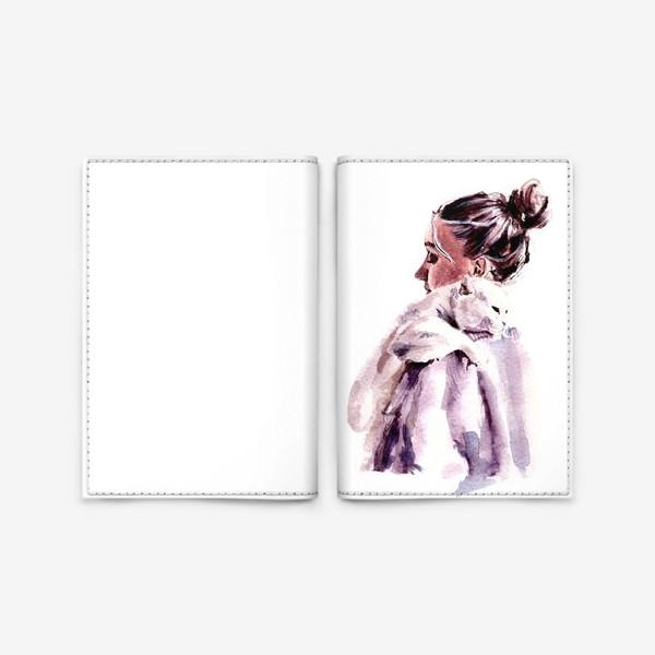 Обложка для паспорта «нежность на плечи»