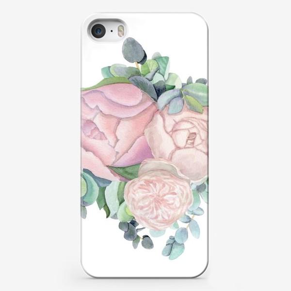 Чехол iPhone «Пионы и эвкалипт »