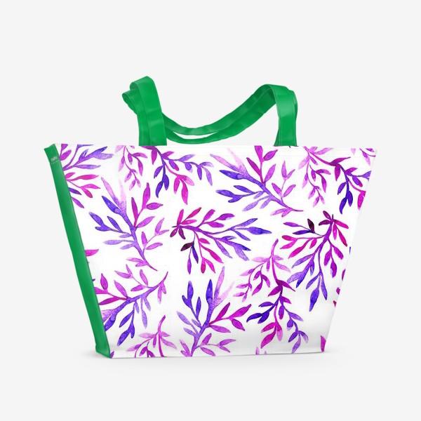 Пляжная сумка «Акварельные ветки»