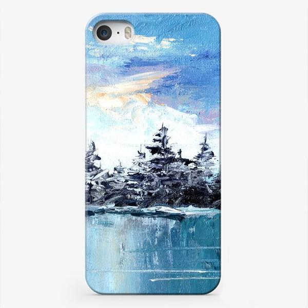 Чехол iPhone «зимнее озеро»