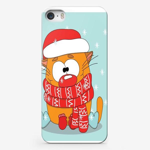 Чехол iPhone «Котик в шарфе»