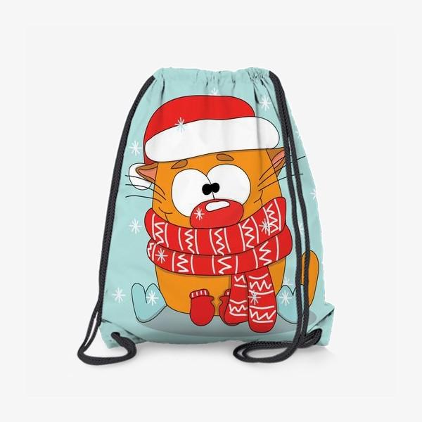 Рюкзак «Котик в шарфе»
