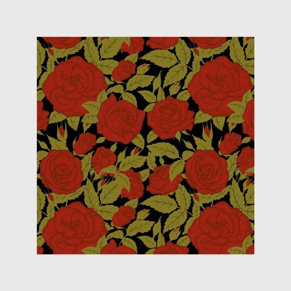 Шторы «красные розы»
