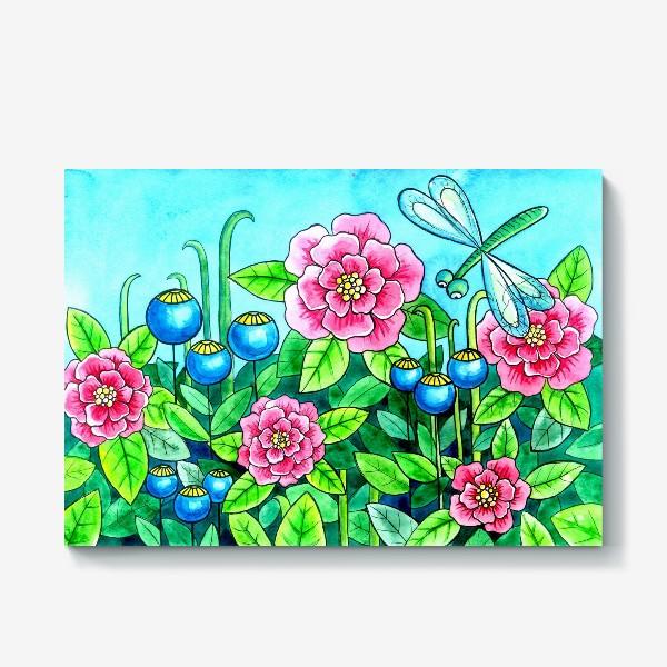 Холст «Цветочное настроение»