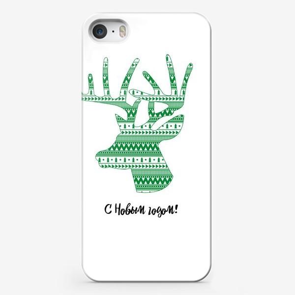 Чехол iPhone «Олень: С Новым годом!»