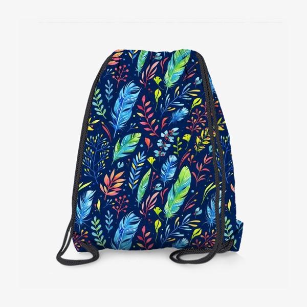 Рюкзак «Веточки и перья»