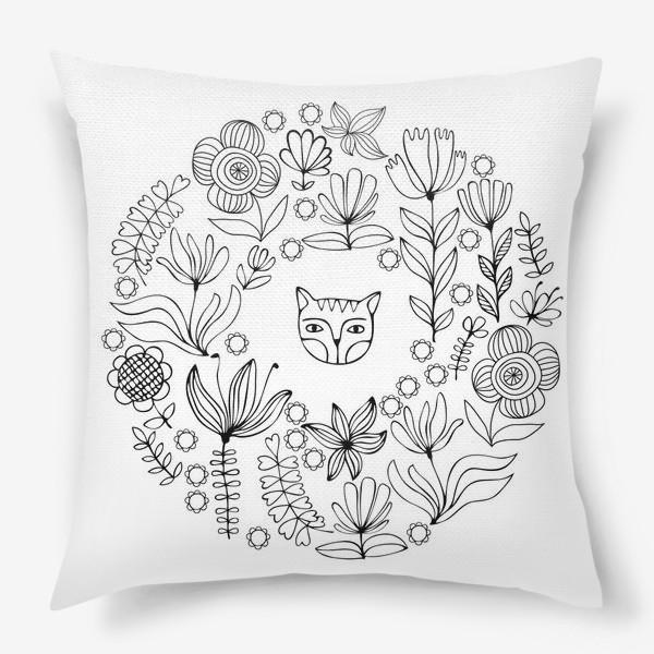 Подушка «Цветочный круг»