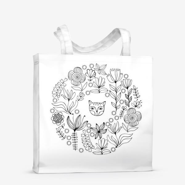 Сумка-шоппер «Цветочный круг»