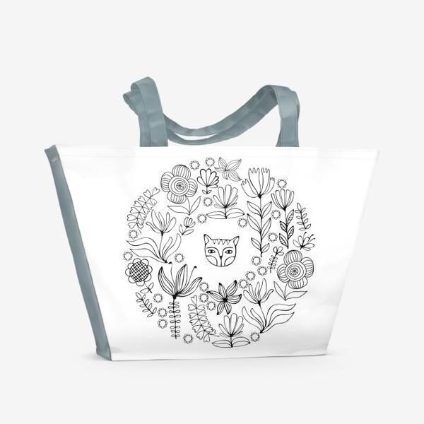 Пляжная сумка «Цветочный круг»