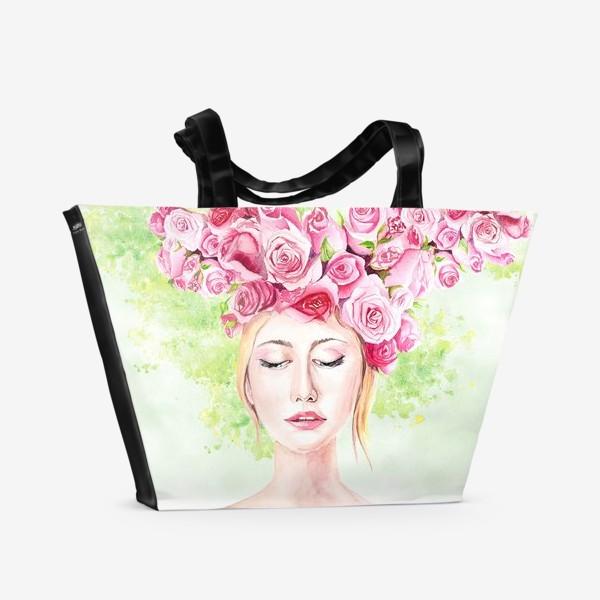 Пляжная сумка «Девушка лето»