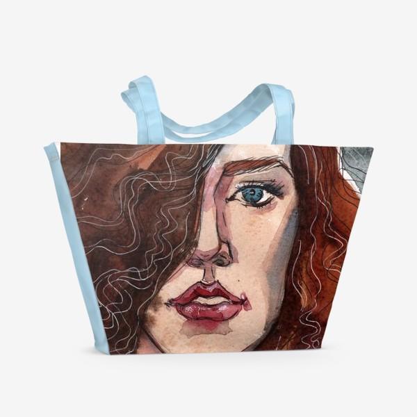 Пляжная сумка «Модель. Fashion illustration»