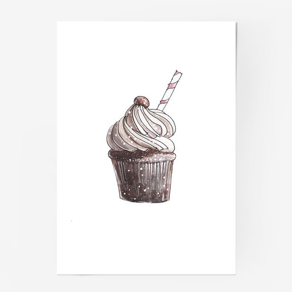 Постер «Кофейный капкейк»