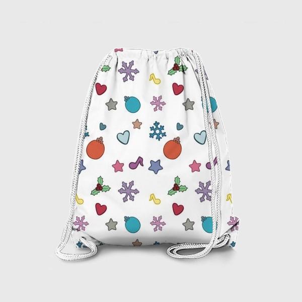 Рюкзак «Новогодний паттерн»