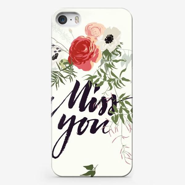 Чехол iPhone «Miss you»