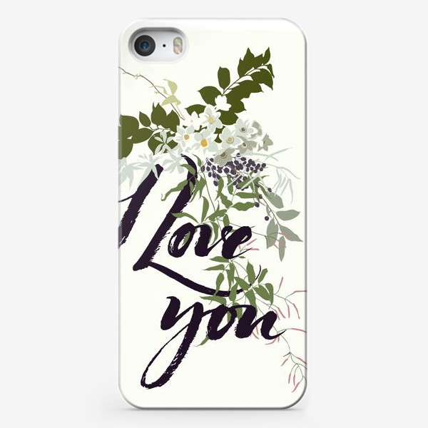 Чехол iPhone «Love you»