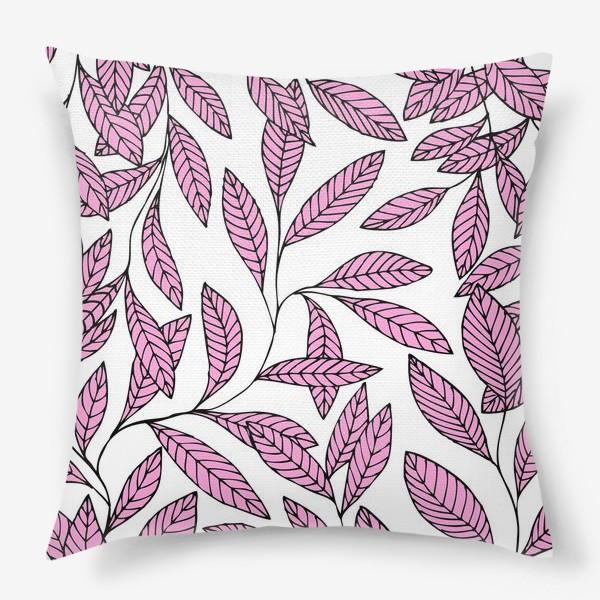 Подушка «Нежные розовые ветки»