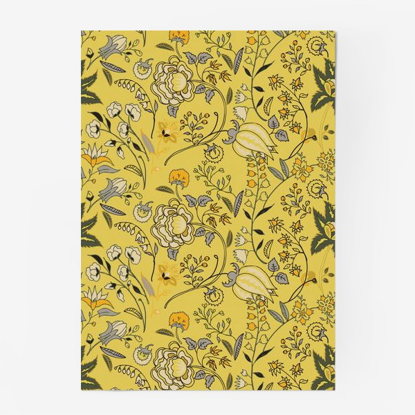 Постер «Паттерн с желтыми абстрактными цветами»