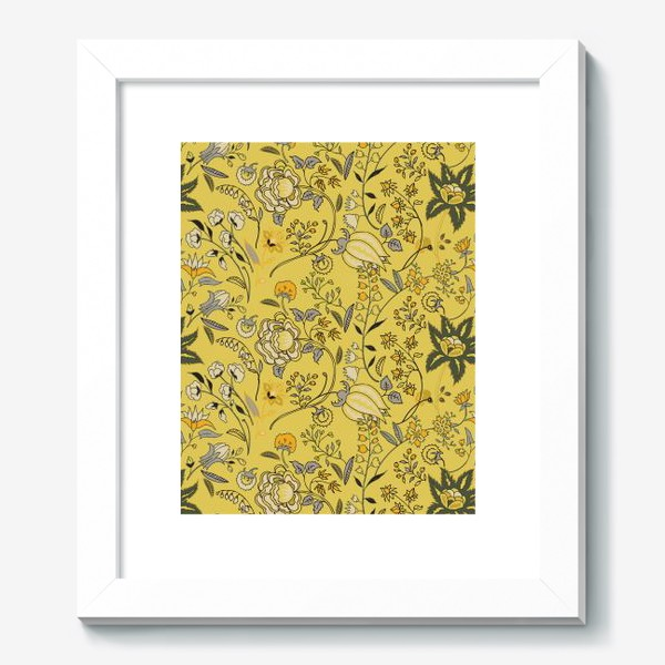 Картина «Паттерн с желтыми абстрактными цветами»