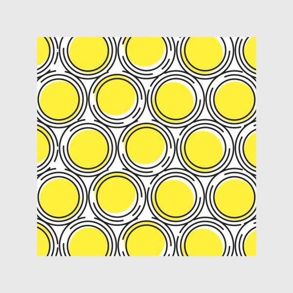 Скатерть «Геометрический узор желтые круги»