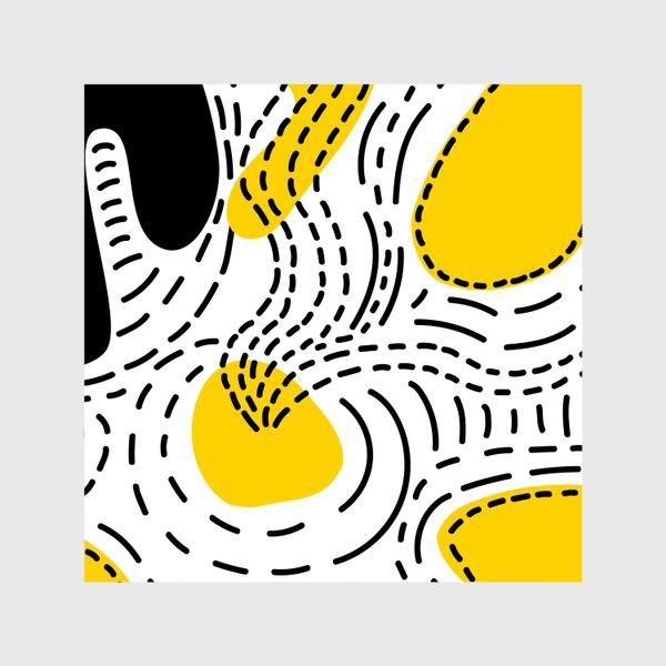 Шторы «Стильный геометрический узор пятна и стежки»