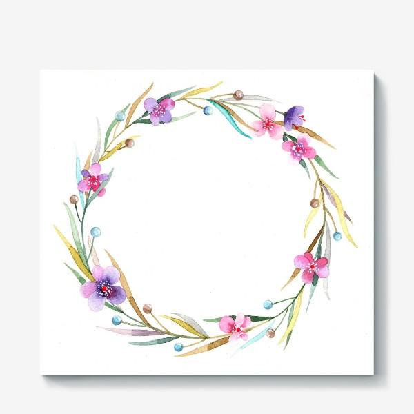 Холст «цветочный веночек»