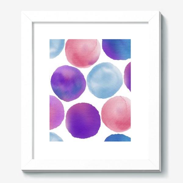 Картина «Акварельный круги на белом»