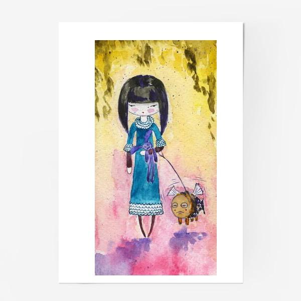 Постер «Девочка и рыба 2»