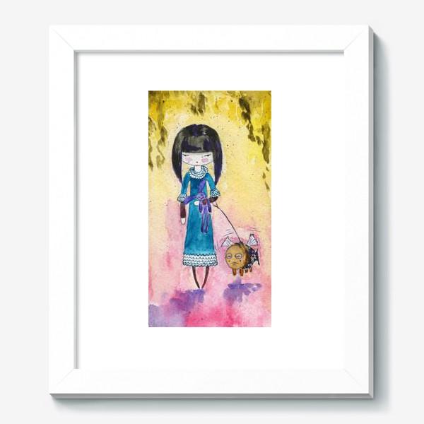 Картина «Девочка и рыба 2»