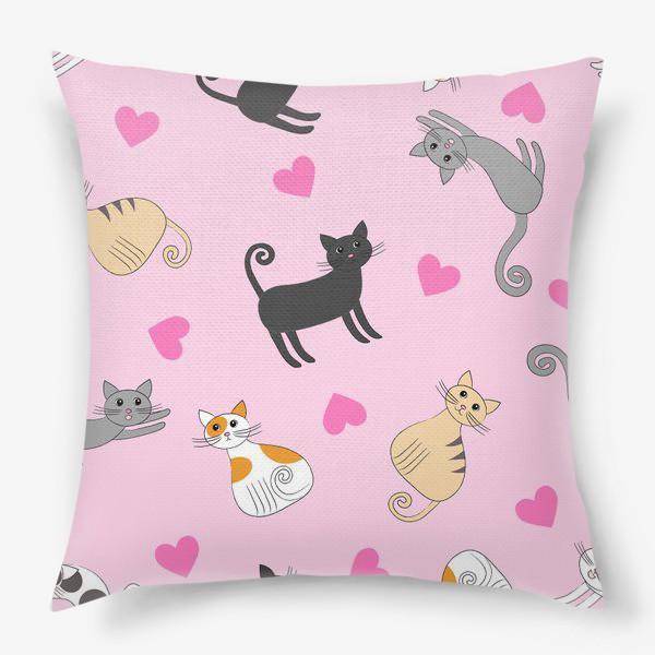 Подушка «Влюбленные котики»