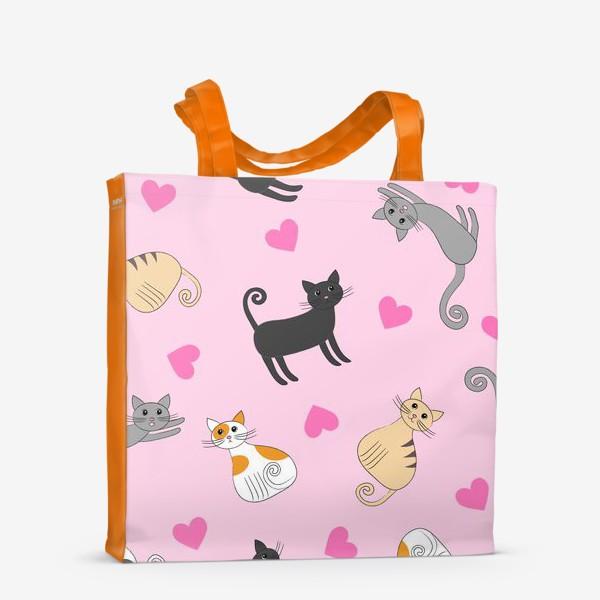 Сумка-шоппер «Влюбленные котики»