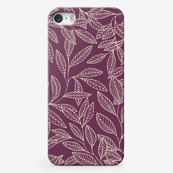 Чехол iPhone «Брусничные ветки»