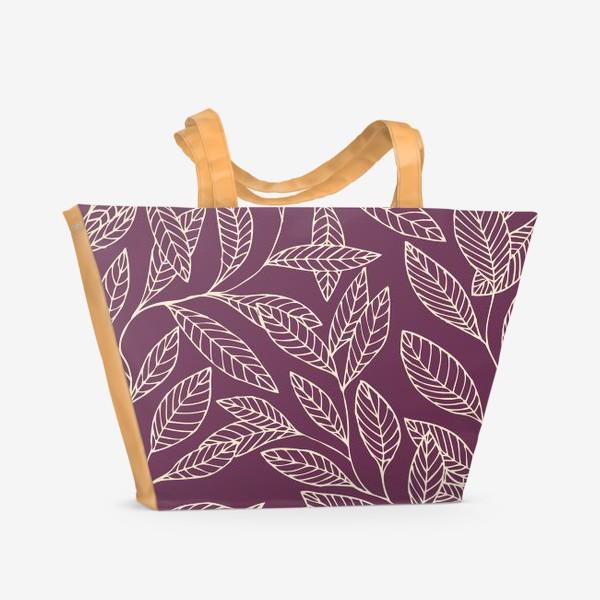 Пляжная сумка «Брусничные ветки»