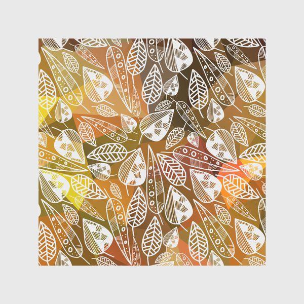 Скатерть «Очень осенний паттерн с листьями»